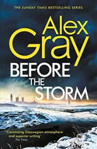 Book cover for Before the Storm by Alex Gray