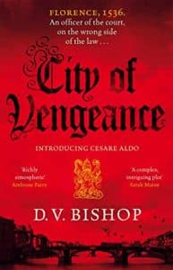 Book cover of City of Vengeance by D V Bishop